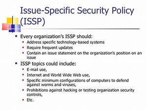 information security policy 2011 With issp template