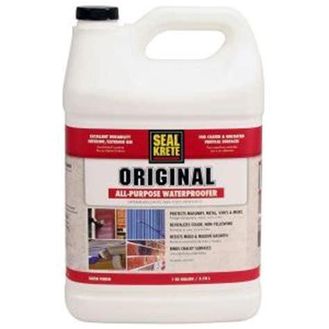 seal krete floor tex home depot seal krete 1 gal original waterproofing sealer 100001