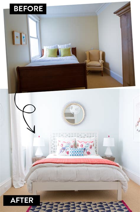 Modern Eclectic Bedroom Before And After  At Home In Love