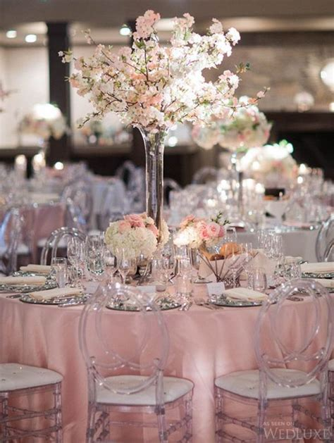 Picture Perfect Wedding Decor with Blush Lamour Tablecloth