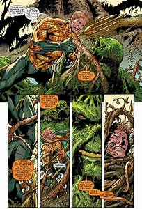 Aquamans First Meeting With Swamp Thing New 52
