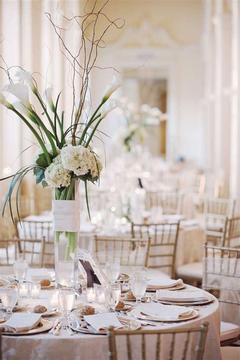 tall white wedding centerpiece ideas flower power