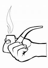 Coloring Smoking Smoke Colouring Clipart Risks Clip sketch template