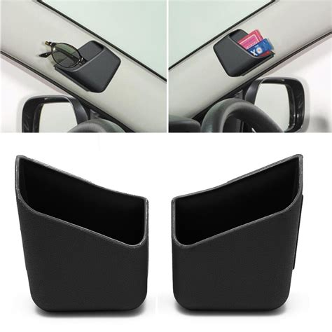 pair black universal car auto accessories glasses organizer storage box holder ebay