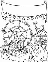 Carnival Coloring Fair Pages Coaster Roller State Games Clown Printable Drawing Tricycle Getcolorings Riding Rated Getdrawings Colorings sketch template