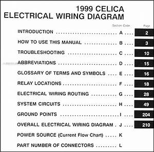 1999 Toyota Celica Wiring Diagram Manual Original