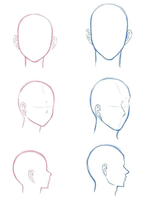 female  male head perspectives drawing manga anime drawings tutorials manga drawing