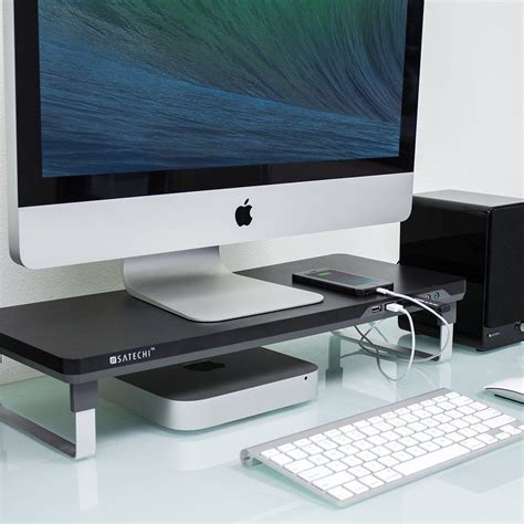 imac desk mount uk computer monitor riser laptop imac adjustable stand