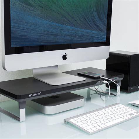 computer riser for desk computer imac laptop pad desktop workspace monitor riser