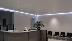 revgercom toile tendu plafond avec led idee With carrelage adhesif salle de bain avec eclairage led de noel