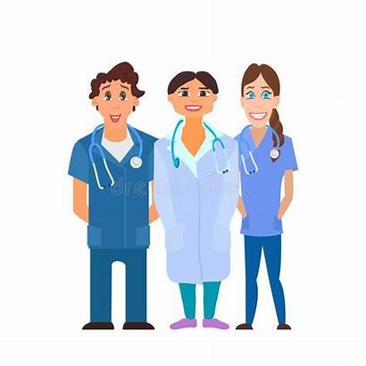 Workers Vector Hospital Team Illustration Sick Medical