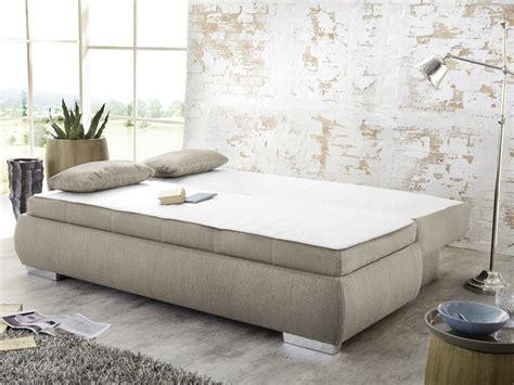 boxspring dauerschläfer dauerschl 228 fer schlafsofa merlin 210x112cm beige sofa boxspring wohnbereiche wohnzimmer