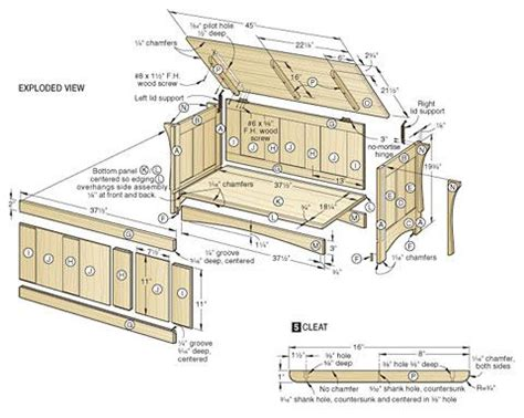 wood blanket chest plans  wooden plans    diy guide projects projects