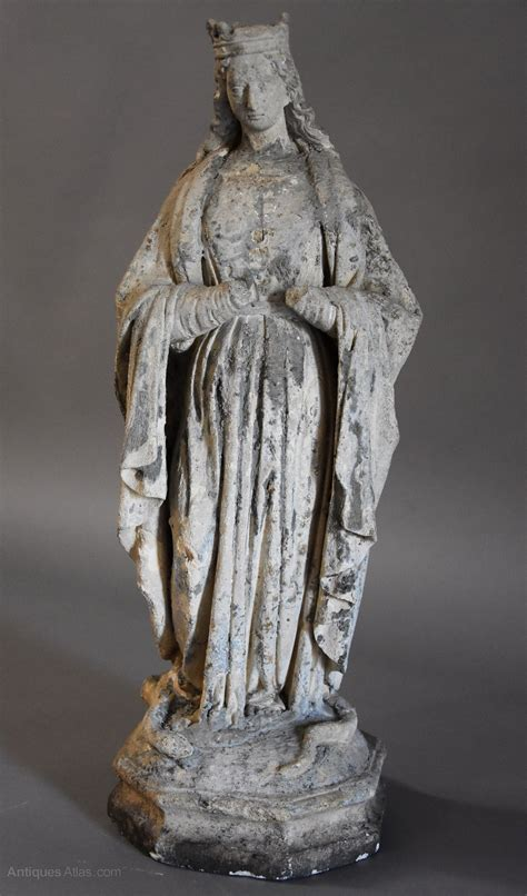 Antiques Atlas - French Limestone Sculpture Of The Virgin Mary