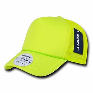 DECKY SOLID NEON FOAM MESH TRUCKER HATS HAT CAPS CAP For