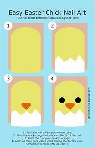Easy easter chick nail art gallery step by