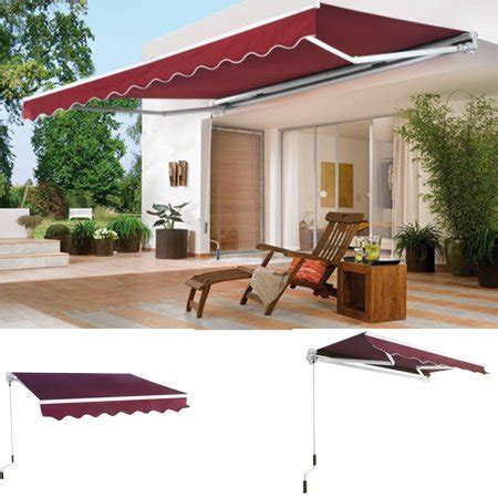 ktaxon    patio deck retractable awning outdoor sun shade shelter canopy walmartcom