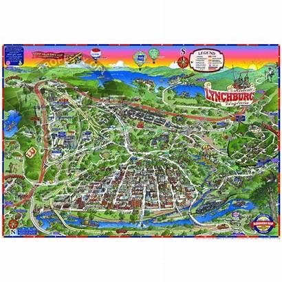Lynchburg Va Map Virginia