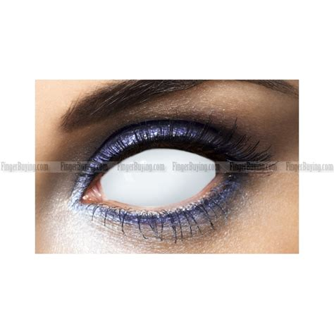 colored white out all white blind sclera contact lens pair