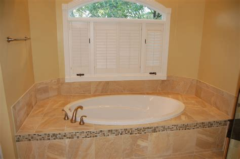 oval drop in tub Bathroom Traditional with tub