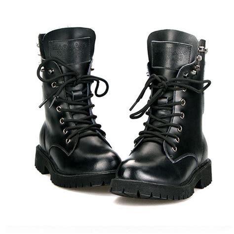 style motorcycle boots british style vintage motorcycle martin boots mid calf