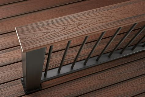 trex transcend decking lava rock decking railing options styles trex