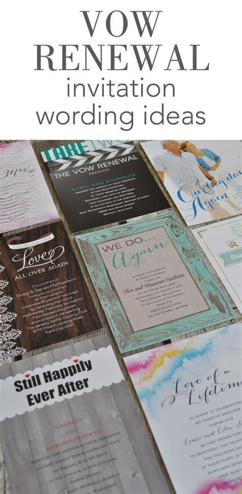 vow renewal invitation wording ideas  invitations
