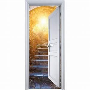 Deco Porte Interieure En Trompe L Oeil : sticker porte trompe l 39 oeil dans la cave 90x200cm stickers muraux deco ~ Carolinahurricanesstore.com Idées de Décoration
