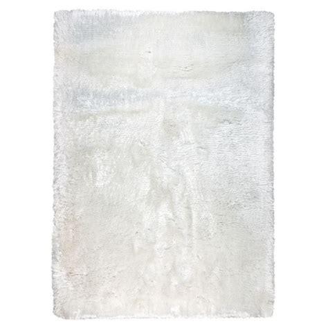 tapis shaggy blanc ligne pure tiss 233 main adore 170x240