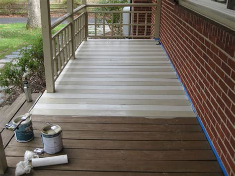 best paint for wood porch floor how to paint a wood deck or front porch we did subtle