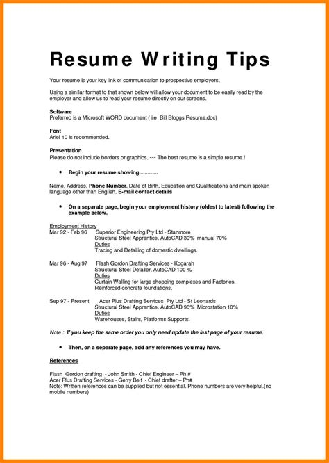 Sle Resume Format For Application by 6 Show Me How To Write A Resume Writing A Memo