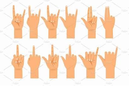 Hand Signals Gestures Different Creative