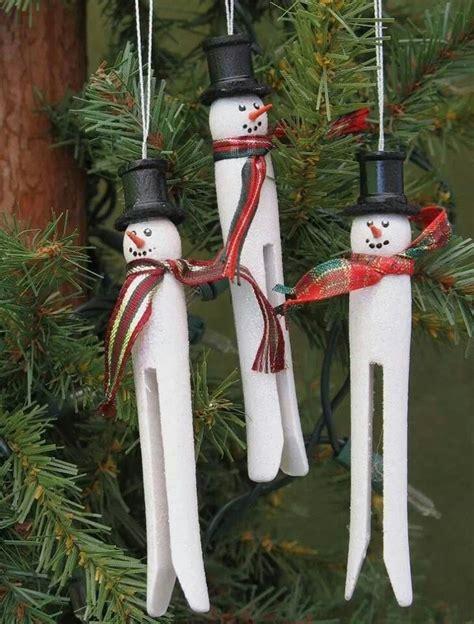 clothespin ornaments christmas pinterest