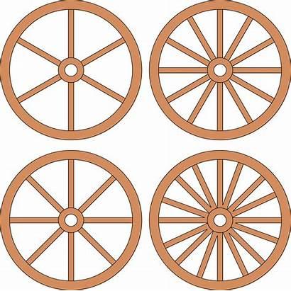 Wheel Wagon Clipart Wheels Cart Spoke Drawing