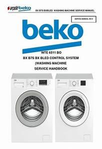 Beko Wte 6511 Bo Washing Machine Service Manual