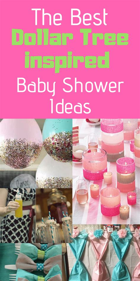 Cheap Decorating Ideas For Baby Shower by The Best Dollar Tree Baby Shower Ideas