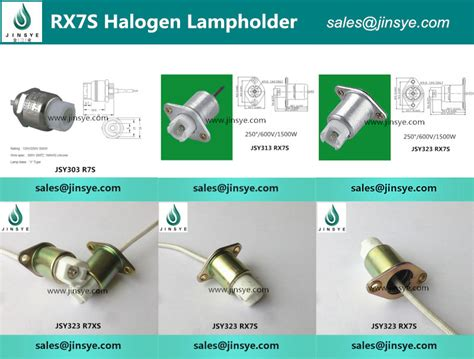 ceramic halogen l holder r7s rx7s l socket l
