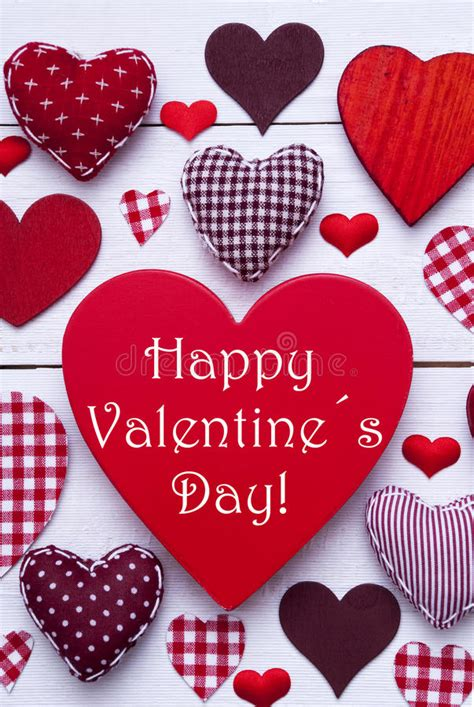 Red Hearts Texture, Text Happy Valentines Day, Vertical ...