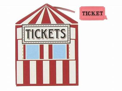Ticket Booth Clip Carnival Clipart Tickets Raffle