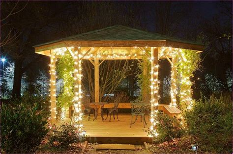 28 Gazebo Lighting Ideas And Projects For Your Backyard   Interior Design Inspirations