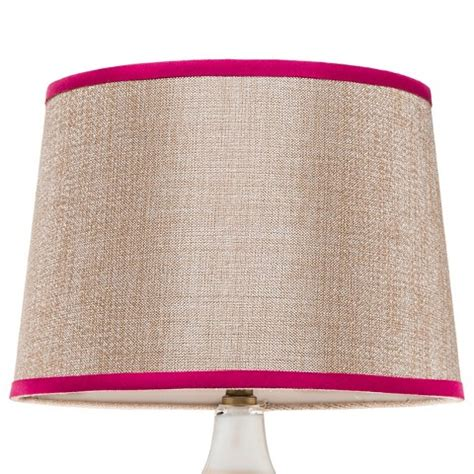 beige l shade with pink trim large thresh target