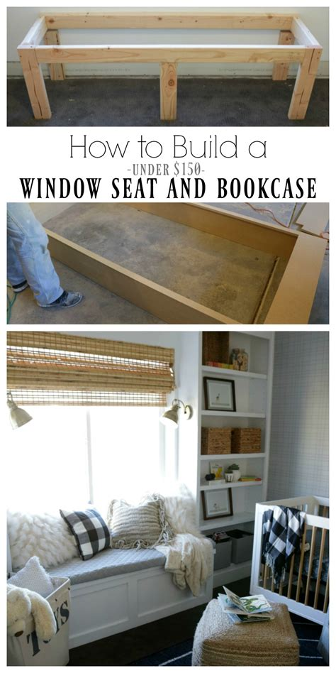 How To Make A Bookcase by How To Build A Window Seat And Built In Bookcase Tutorial