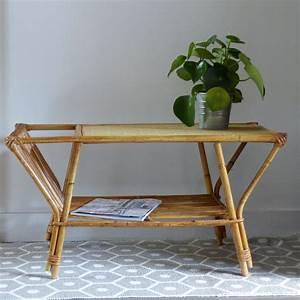 Table Basse Rotin : table basse en rotin vintage lignedebrocante brocante en ligne chine pour vous meubles ~ Teatrodelosmanantiales.com Idées de Décoration