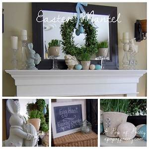 My Easter Mantel BHG Real Home Spring Easter Mantel