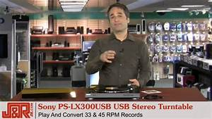 Sony Ps-lx300usb Usb Stereo Turntable - Jr Com