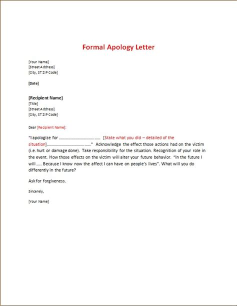 apology letters templates word excel templates