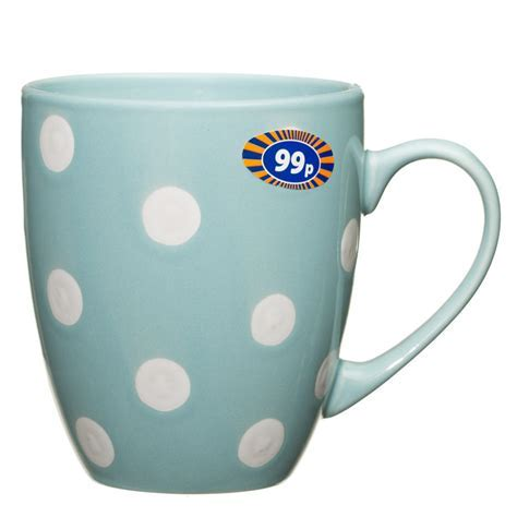 Spotty Mug Duck Egg Blue   2570691   B&M