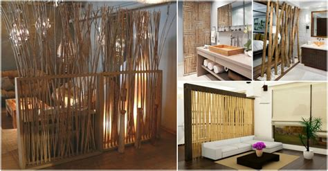 bamboo room dividers   warm    home