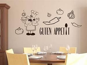 Wandtattoos Küche Esszimmer : wandtattoo wandaufkleber set f r k che guten appetit koch ~ Watch28wear.com Haus und Dekorationen