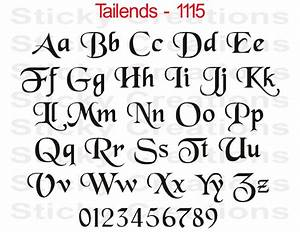 details about 1115 custom lettering fancy vinyl decal With decal lettering styles